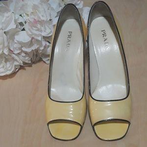 Prada   Patent leather Peep Toe Heels